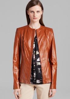 Lafayette 148 New York Yelena Leather Jacket