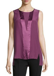 Lafayette 148 New York Yuki High-Low Hem Top, Fig