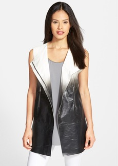 Lafayette 148 New York 'Yuri' Dégradé Lambskin Leather Vest