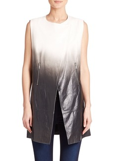 Lafayette 148 New York Yuri Degrade Leather Vest
