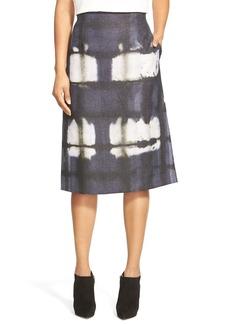 Lafayette 148 New York 'Yvette' Print A-Line Skirt