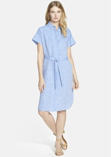 Lafayette 148 New York 'Yvonne' Linen Shirtdress