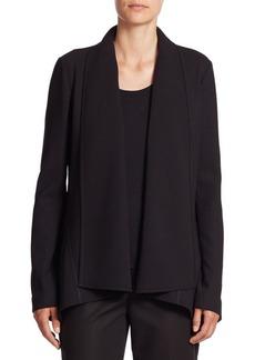 Lafayette 148 New York Zanita Drape-Front Stretch Wool Jacket