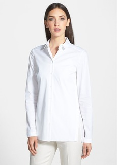 Lafayette 148 New York 'Zelda' Sheer Panel Blouse