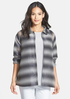 Lafayette 148 New York 'Zineb -  Ethereal Stripe' Topper