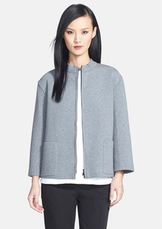 Lafayette 148 New York Zip Front Jersey Topper