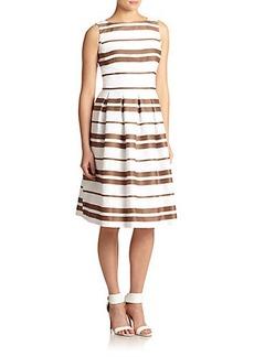 Lafayette 148 New York Zoe Striped Fit-&-Flare Dress