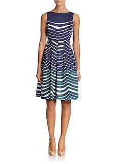 Lafayette 148 New York Zoe Wave-Print Dress