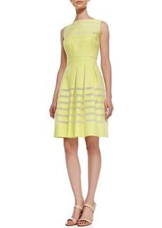 Lafayette 148 New York Zoe Woven Shadow-Stripe Dress