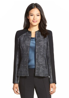 Lafayette 148 New York 'Brooks' Tweed Jacket (Regular & Petite)