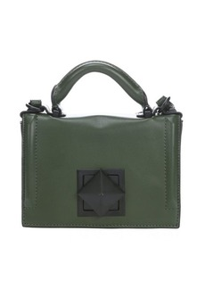 L.A.M.B. army green leather 'Elga' mini shoulder bag