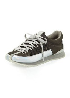L.A.M.B. Bennie Metallic Cutout Sneaker, Gray