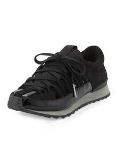 L.A.M.B. Bennie Patent Cutout Sneaker, Black
