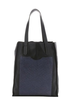 L.A.M.B. black and navy leather 'Gillian' tote bag