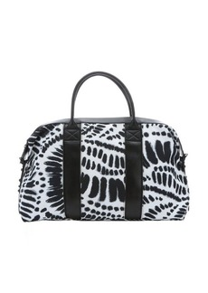 L.A.M.B. black and white tribal print canvas 'Glow' convertible travel tote