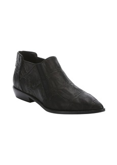 L.A.M.B. black croc-embossed leather 'Memento' ankle boots