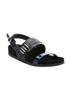 L.A.M.B. black leather 'Bradyn' slingback sandals