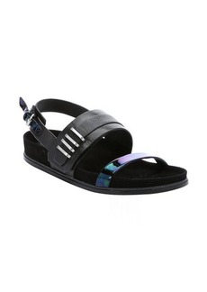 L.A.M.B. black leather 'Bradyn' slingback sandals