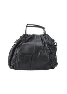 L.A.M.B. black leather 'Ember' top handle bag