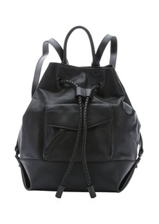 L.A.M.B. black leather 'Gracie' backpack