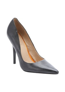 L.A.M.B. black leather 'Kadan' stiletto pumps
