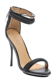 L.A.M.B. black leather 'Kanye' stiletto sandals