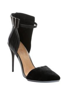 L.A.M.B. black leather 'Tomas' ankle strap pumps