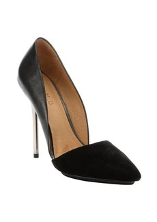L.A.M.B. black pony leather 'Trina' d'orsay metallic stiletto pumps