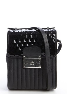 L.A.M.B. black quilted and patent leather 'Camelia' shoulder bag