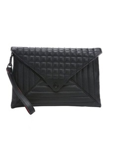 L.A.M.B. black quilted leather 'Ebba' clutch bag