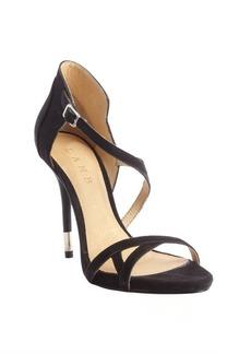 L.A.M.B. black suede 'Flavia' heel sandals