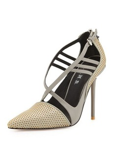 L.A.M.B. Boston Strappy Perforated Pump