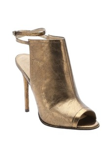 L.A.M.B. bronze metallic leather 'Ward' peep-toe booties