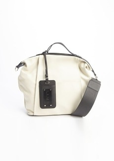 L.A.M.B. cream and black leather 'Brion II' convertible shoulder bag