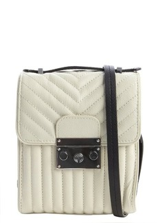 L.A.M.B. cream quilted leather 'Camelia' shoulder bag