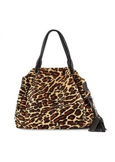 L.A.M.B. Dai II Zip-Top Satchel Bag, Leopard
