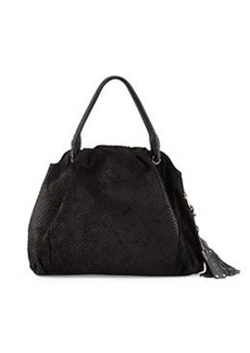 L.A.M.B. Dai Zip-Top Satchel Bag, Black