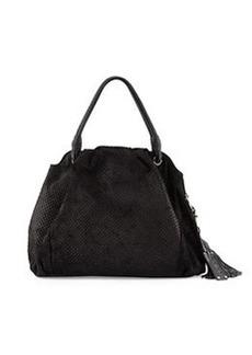 L.A.M.B. Dai Zip-Top Satchel Bag, Black