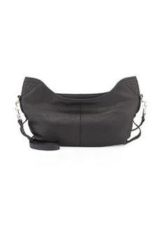 L.A.M.B. Dima Leather Hobo Bag, Black