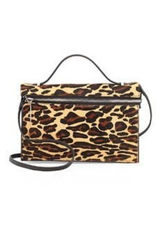 L.A.M.B. Dolley Calf Hair Shoulder Bag, Leopard