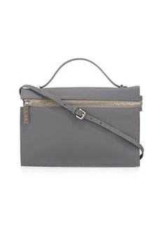 L.A.M.B. Dolley Leather Shoulder Bag, Gray
