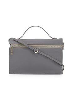 L.A.M.B. Dolley Leather Shoulder Bag, Gray