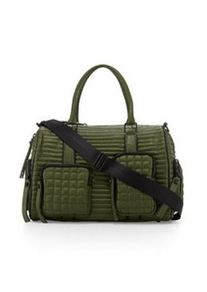 L.A.M.B. Eady Leather Satchel Bag, Olive