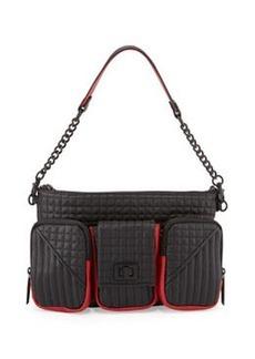 L.A.M.B. Eden Leather Shoulder Bag, Black