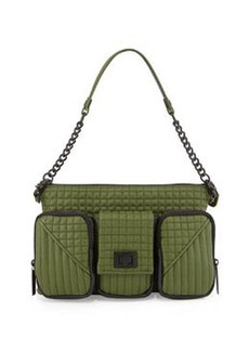 L.A.M.B. Eden Leather Shoulder Bag, Rifle Green