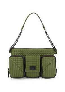 L.A.M.B. Eden Leather Shoulder Bag, Rifle Green