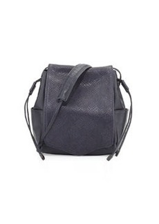 L.A.M.B. Edria Leather Bucket Bag, Midnight