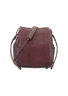 L.A.M.B. Edria Leather Bucket Bag, Wine