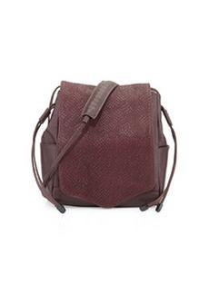 L.A.M.B. Edria Leather Bucket Bag, Wine