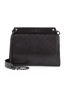 L.A.M.B. Edsel Calf-Hair Shoulder Bag, Black